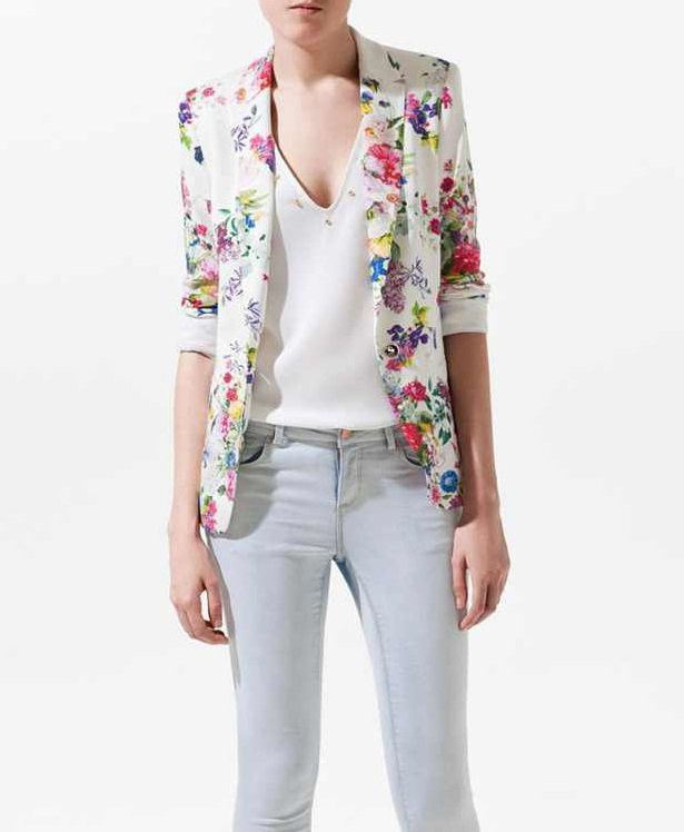 Milay Single Button Floral Blazer