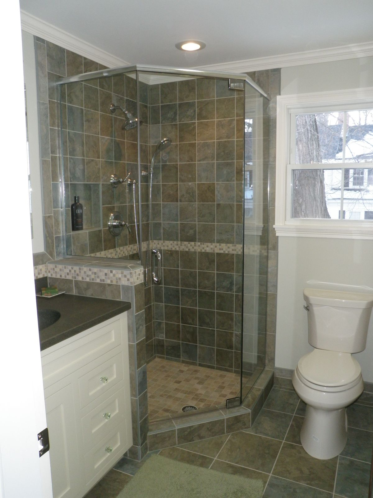 Small Condo Bath Custom Tile Shower Custom Tile Shower Custom