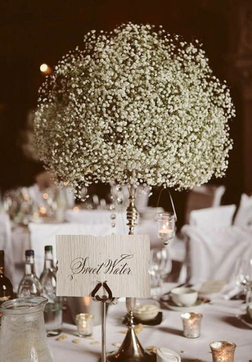 elegant baby\'s breath wedding centerpieces | wedding decorations ...