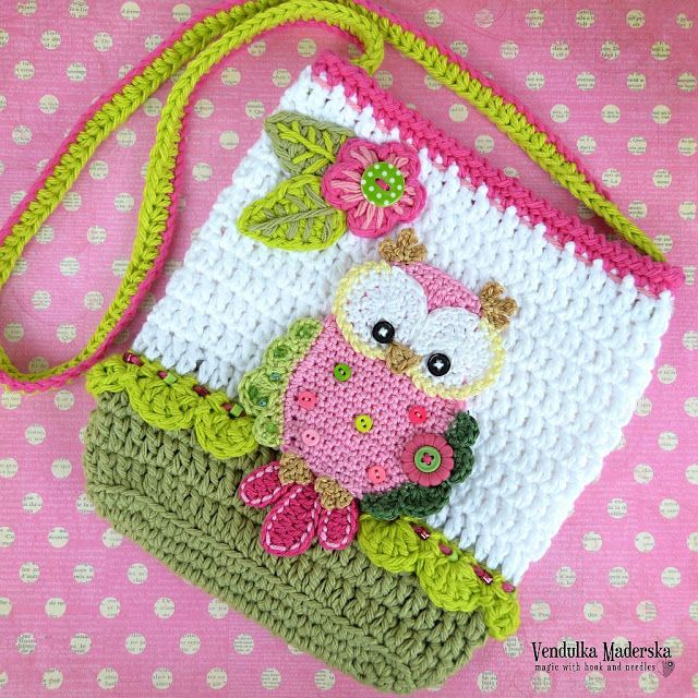 Crochet owl purse by VendulkaM | crochet | Pinterest | Tasche häkeln ...
