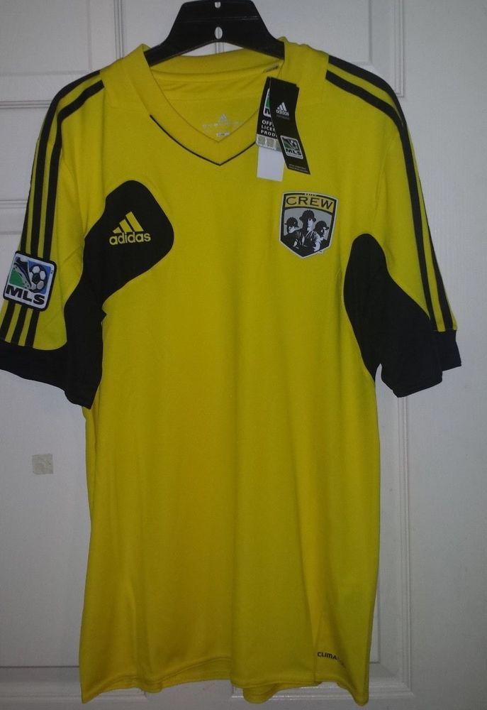 Adidas MLS Columbus Crew Soccer Jersey Mens Medium M NWT Yellow Black  ClimaCool 43d5dd75a