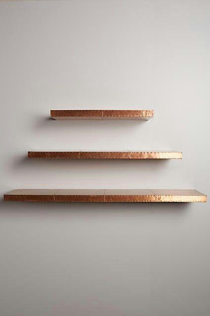 Rosegold Shelves Copper Diy Metal Floating Shelves Copper Shelf