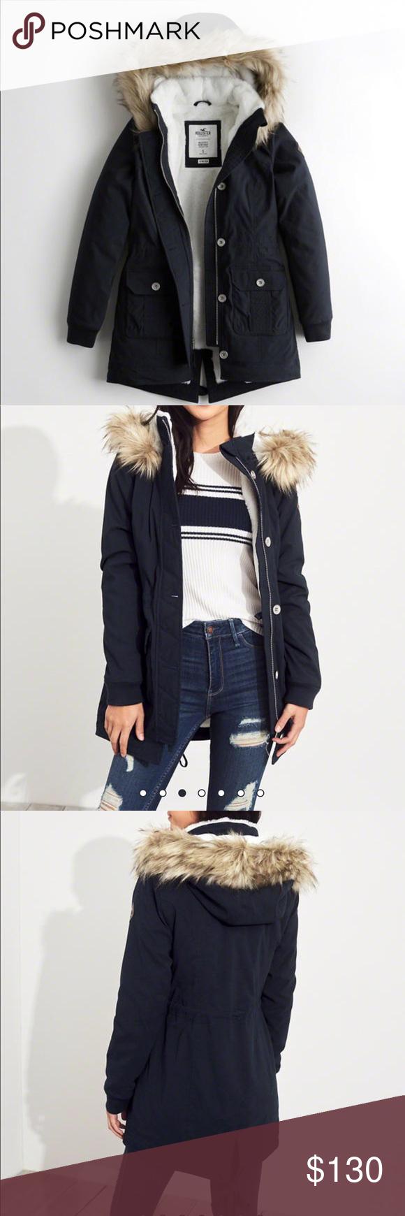 Hollister Cozy Lined Parka Fashion Clothes Design Fashion Design [ 1740 x 580 Pixel ]