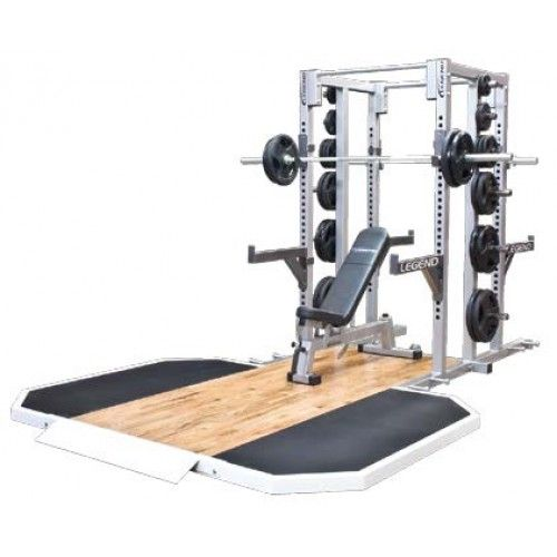 Double Sided Half Cage With Two Platforms No Equipment Workout Military Workout Cage