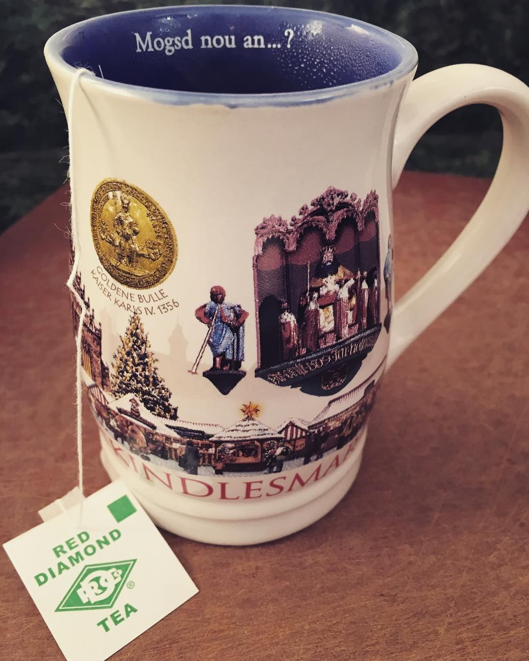"""Alabama meets Germany in Pennsylvania this afternoon!  Enjoying a cup of hot tea to help warm up on this frigid day.  Ever since I lived in #alabama some twenty years ago I've been """"importing"""" tea from #reddiamondtea each year for both summer sweet tea and winter hot tea.  Can't beat it!"""