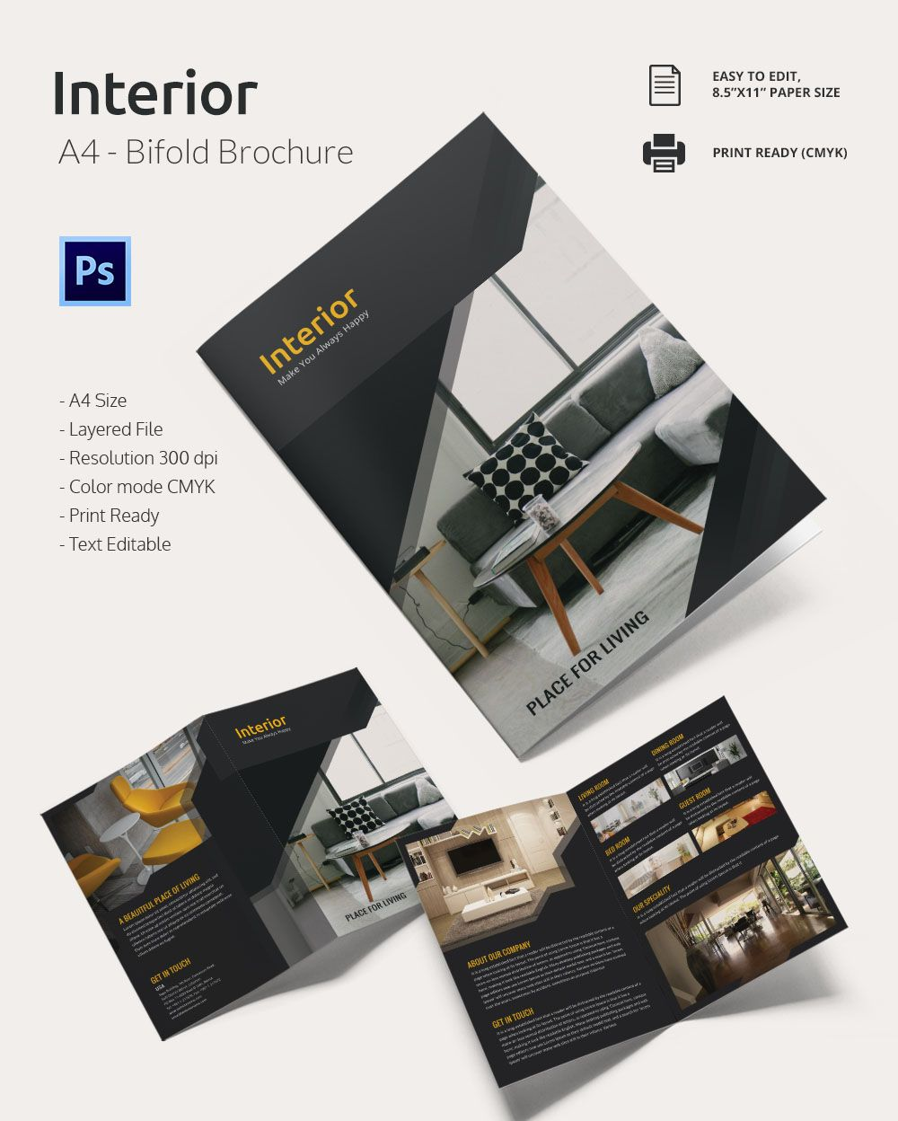 Interior design brochure 20 free psd eps indesign for Interior design brochure
