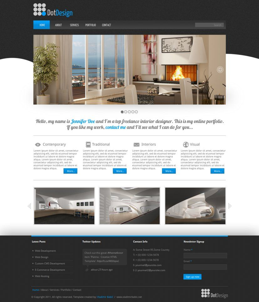 Intesaite Landing Page Concept Real Estate Web Design Web Design Inspiration Design