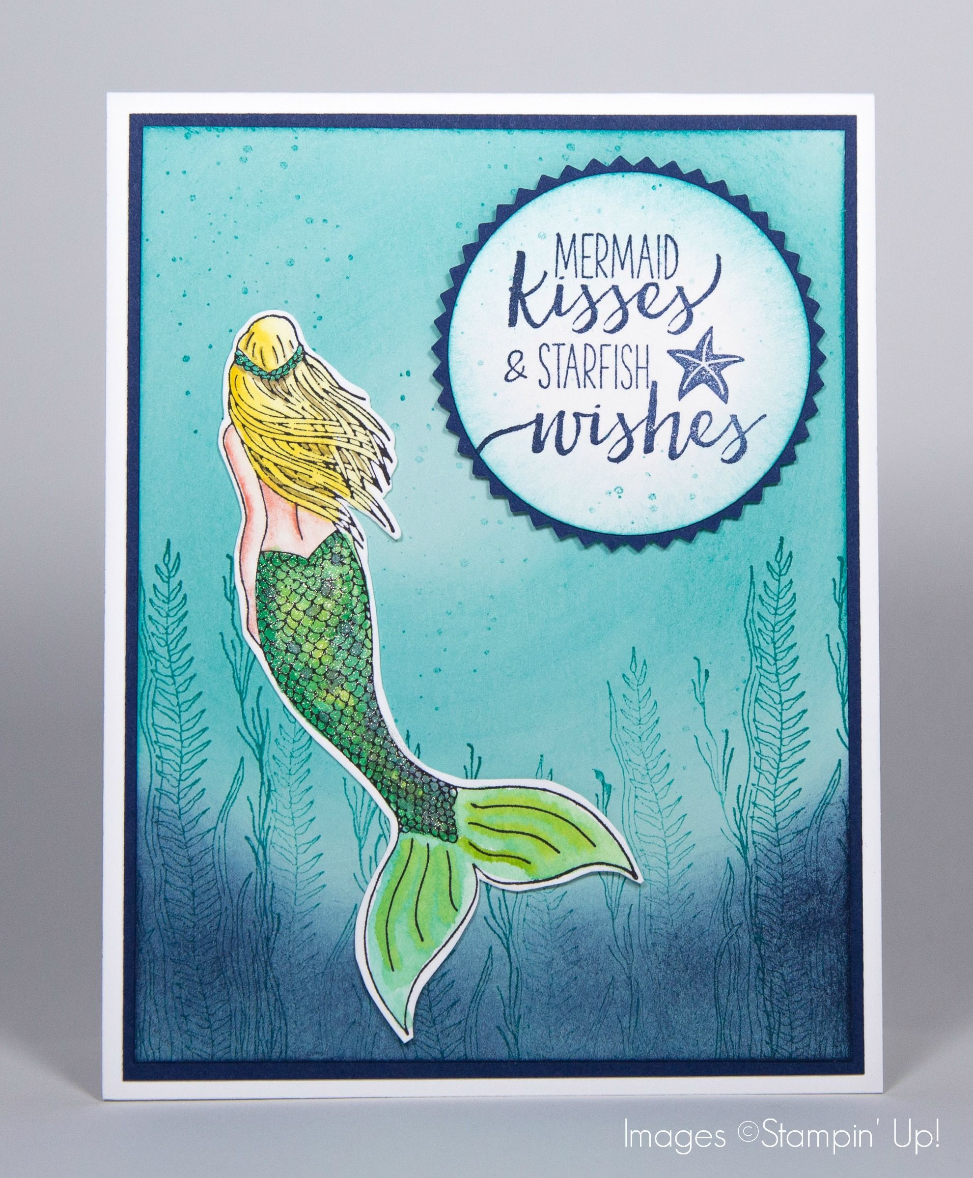 Mermaid Card By Melissa Ellis Rainbow Card Kids Birthday Cards Cards