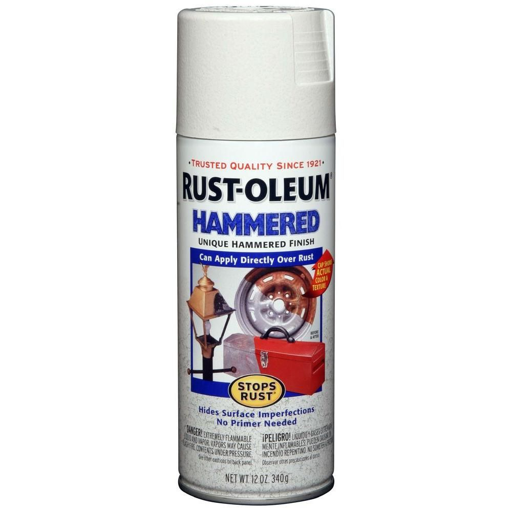 Rust Oleum Stops Rust 12 Oz Hammered White Protective Spray