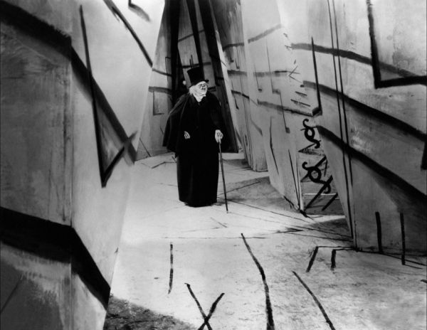 """The set of """"The Cabinet of Dr. Caligari"""" is so disorienting, and mind-boggling. Made on a shoestring in postwar Germany."""