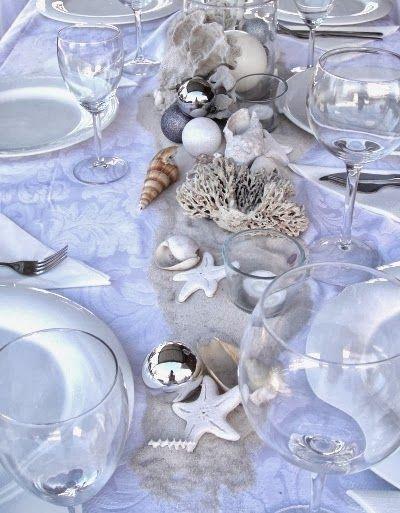 Top Coastal Beach Christmas Holiday Tables - 8 Festive Decorating ...