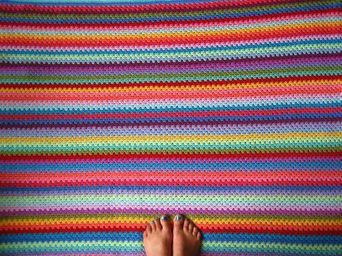 Yummy colours - Attic 24 crochet blanket