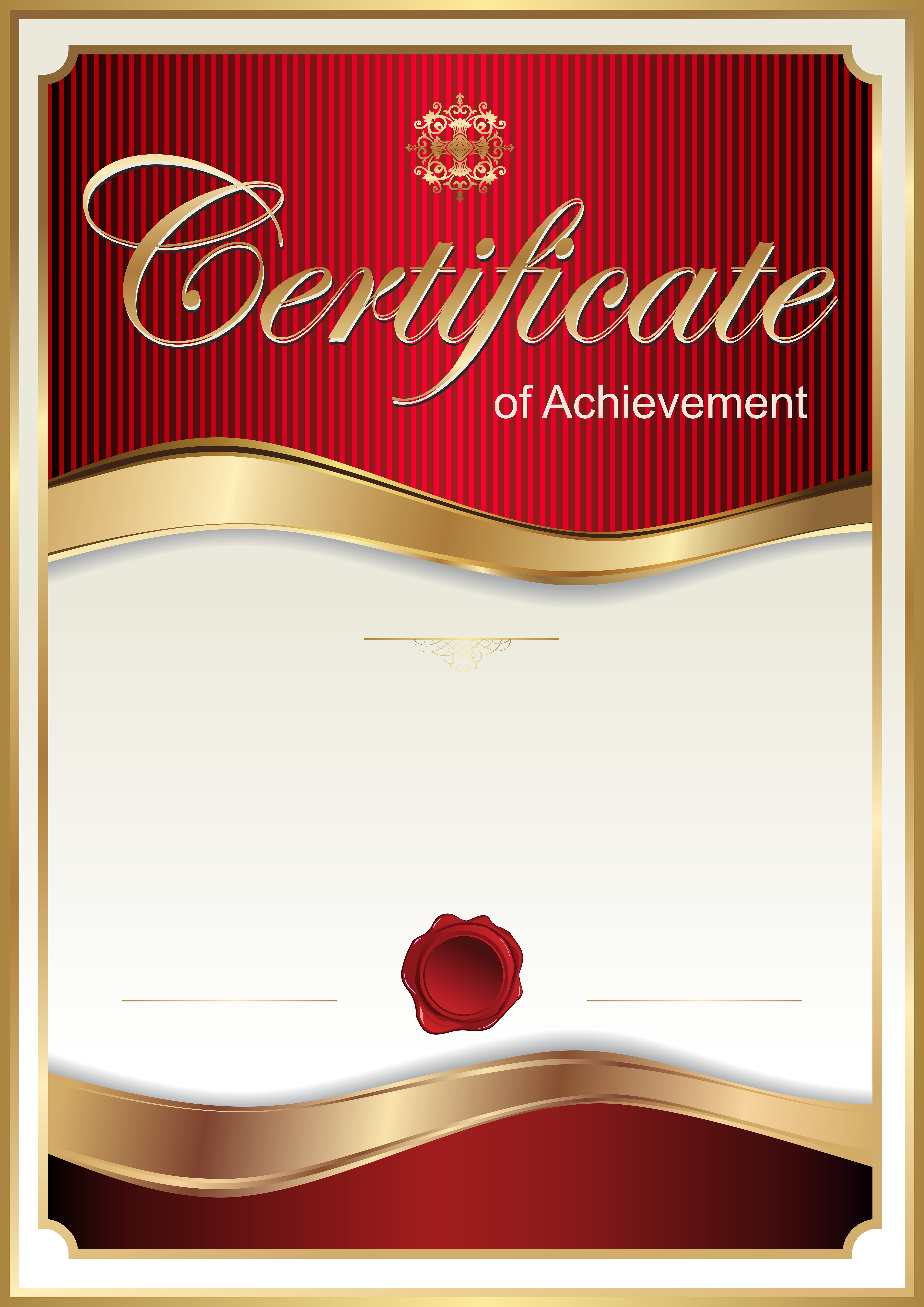 Red Certificate Template PNG Clip Art Image | B&F-Generally | Pinterest