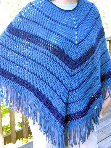 Ravelry Easy Crochet Poncho Pattern By Kathy North Crochet