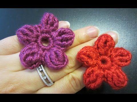 Blume Häkeln Einfach Und Schnell 5 Blätter Auch Als 3d Blume