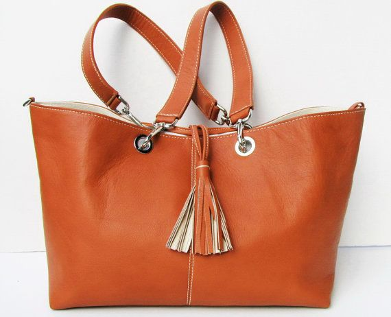 Carry Me Hermes Tangerine / Orange Nappa Leather by farragobags2