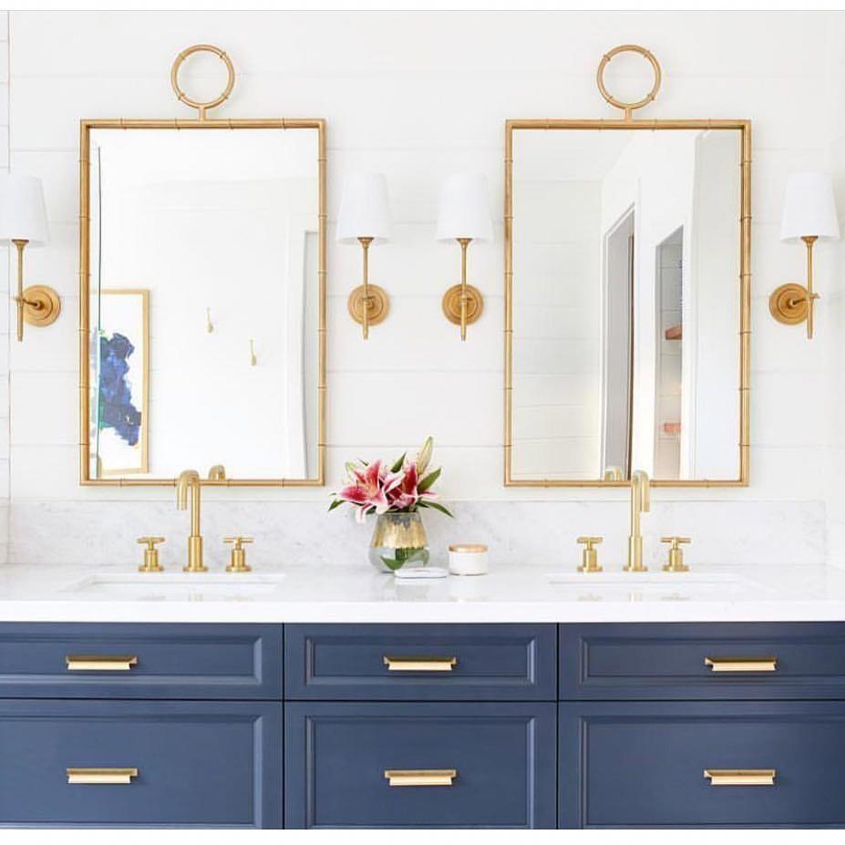 navy bathroom vanity #navybathroomdecor | Bathroom ...