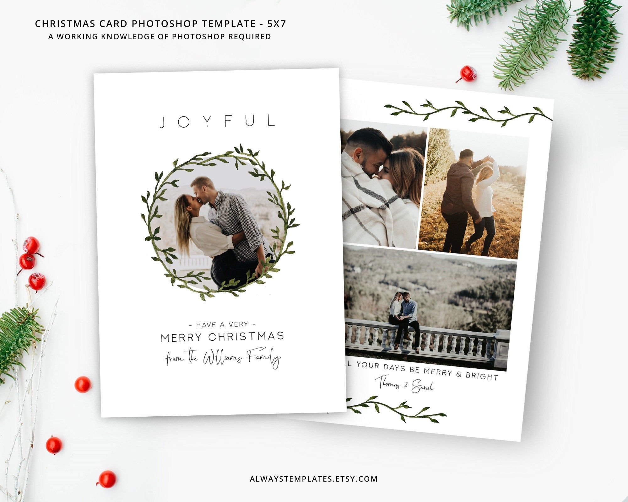 Photo Christmas Card Template Christmas Card Template Etsy Photoshop Christmas Card Template Holiday Card Template Christmas Card Template