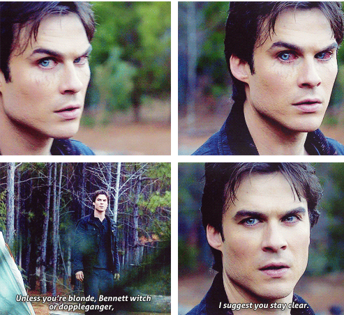 Damon. I didnt notice he was changing in this scene originally
