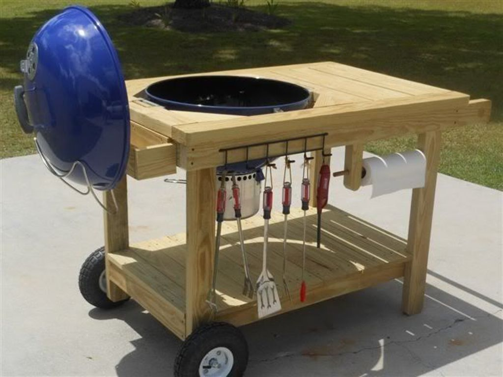 Pin By Allie Doris On Outdoor Builds Grill Table Diy Outdoor Furniture Diy Grill Table