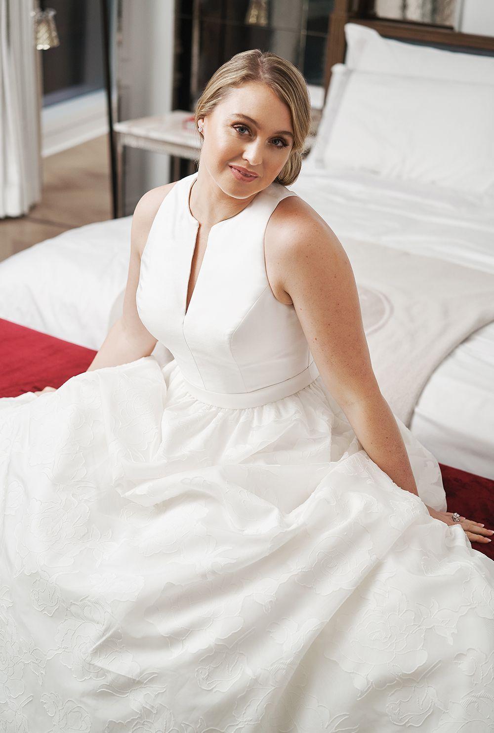 Justin Alexander 8924, a mikado, princess, plus size wedding dress ...