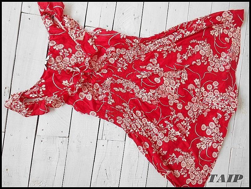 New Look Czerwona Sukienka W Kwiaty 38 5685008434 Oficjalne Archiwum Allegro Women Crop Tops Fashion