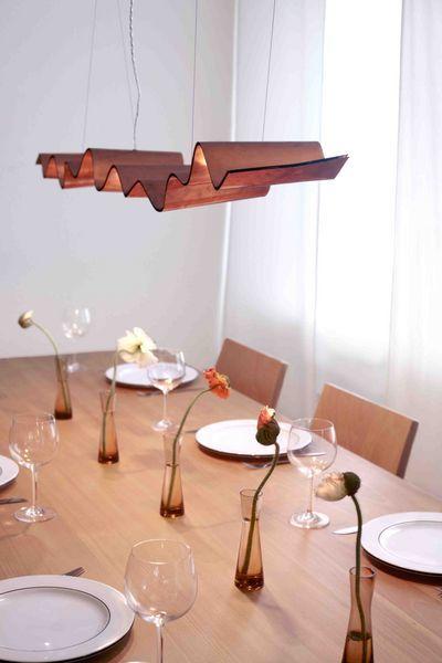 La Ola, Pendelleuchte Wood design, Lamp light and Lights