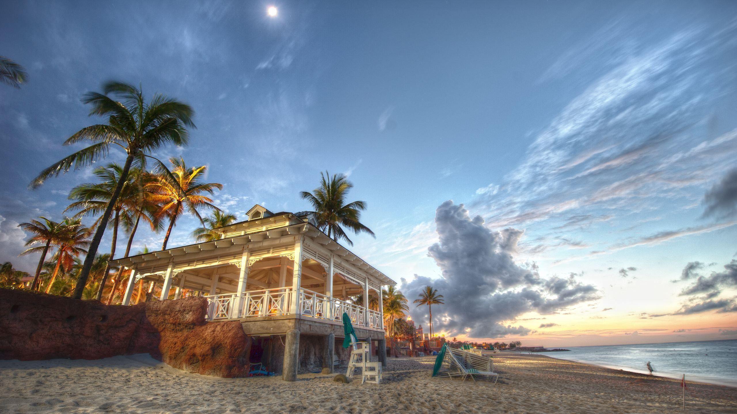 Nassau Bahamas Beach House Nature & Landscape HD