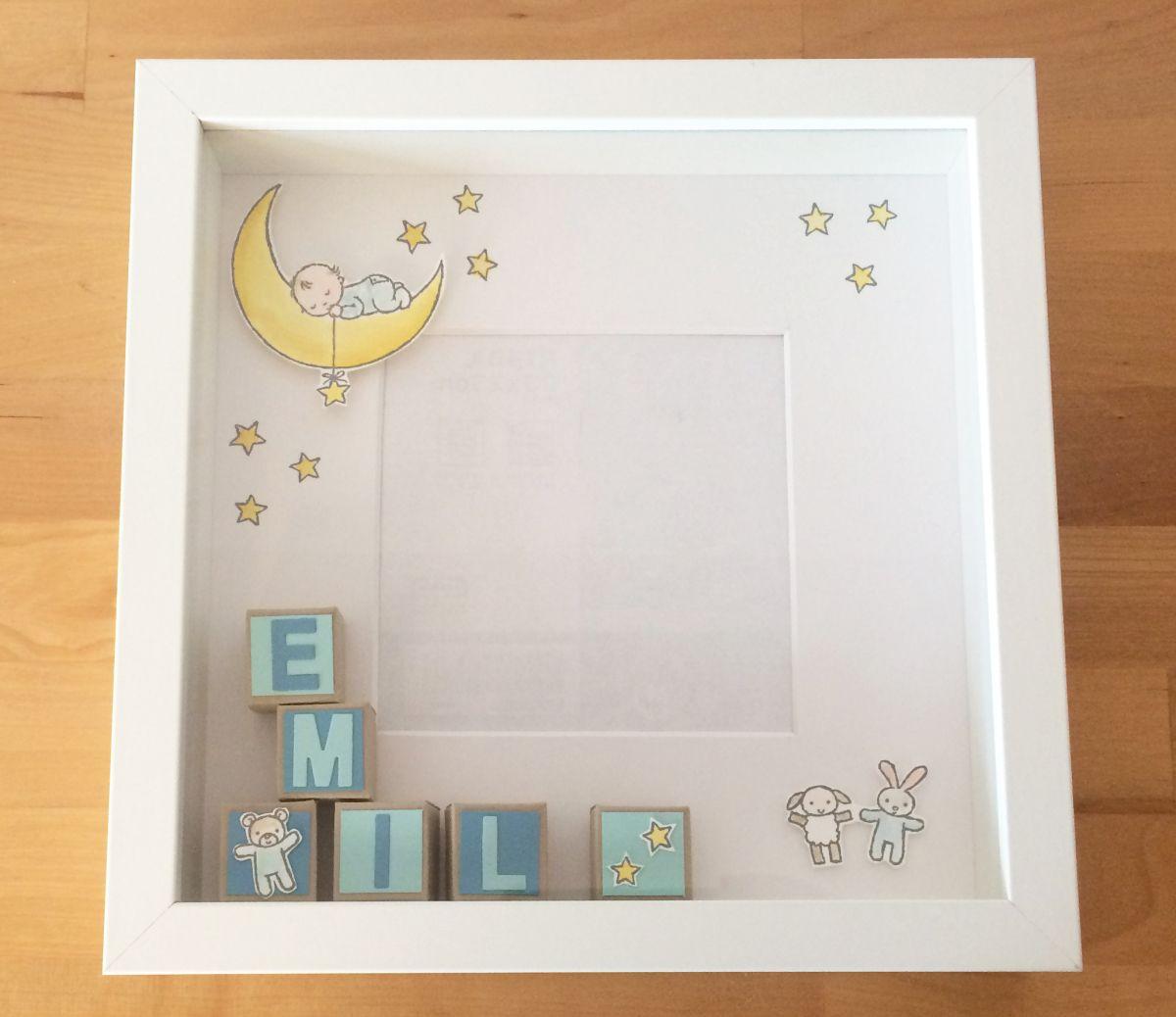 Moon Baby   cuadros decorados   Pinterest   Babies, Moon and Shadow box