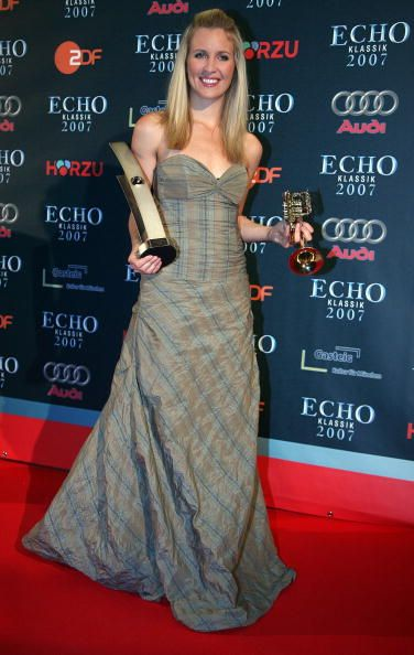 Trumpetist Alison Balsom poses during the Echo Klassik Award at Gasteig Kulturzentrum on October 21 2007 in Munich Germany