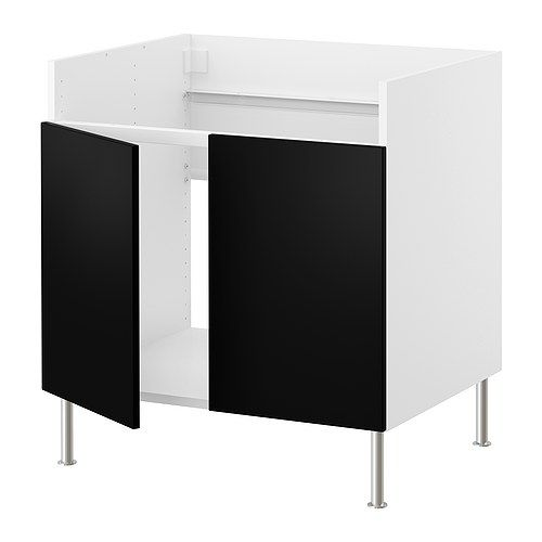 faktum unterschrank f domsj sp le 2 appl d schwarz ikea projekt k che pinterest. Black Bedroom Furniture Sets. Home Design Ideas