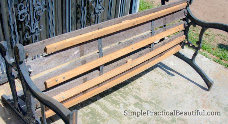 How To Reinforce An Old Park Bench Simple Practical Beautiful Park Bench Garden Bench Diy Outdoor Garden Bench