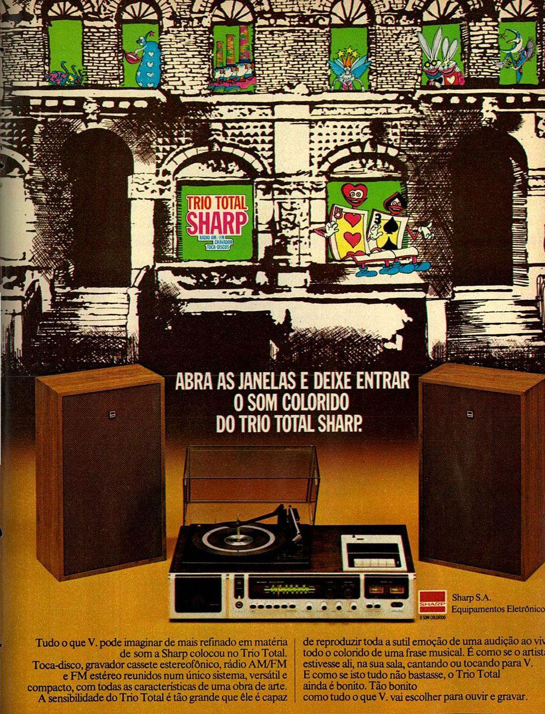 Trio Total Sharp 1975 Emocao Propagandas Antigas Musical