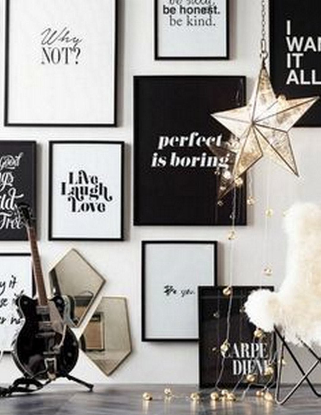 The House Black White Elegant Interior Of A Big With Useful Loft Wall Decor Bedroom Frames On Cool Walls