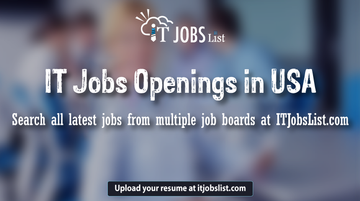 Apply To 10k It Job Openings In Usa On Itjobslist Com Usa No 1