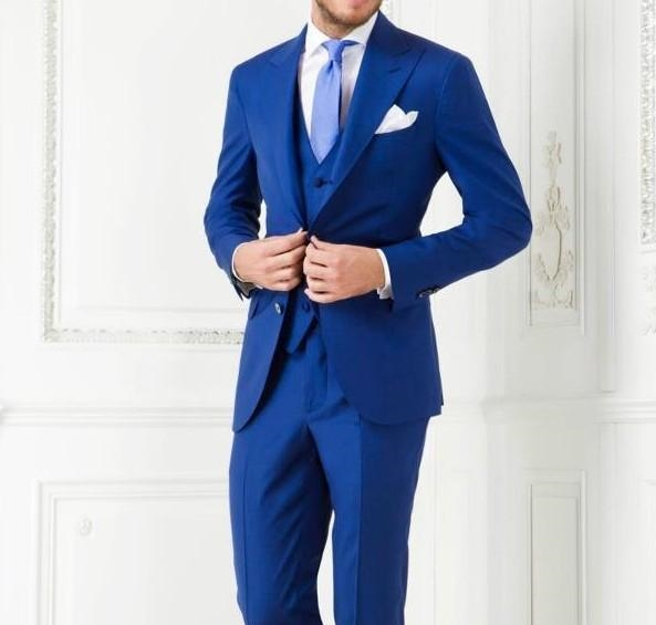 77.4$ Know more - High Quality Two Button Royal Blue Groom Tuxedos ...