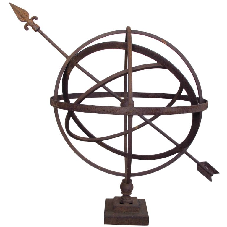 View This Item And Discover Similar Garden Ornaments For At A Large Scaled English Oxidized Iron Armillary Sphere