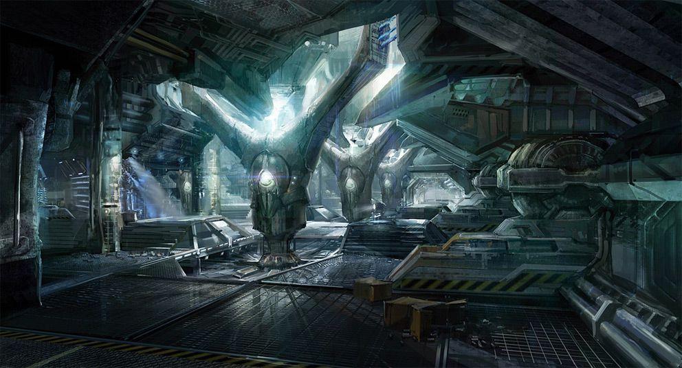 Sci Fi Art Tae Young Choi Area 51 Generator Room Scifi