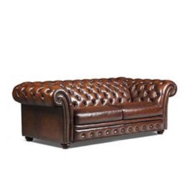 NYC----Gently used Preston Leather Chesterfield Sofa ...
