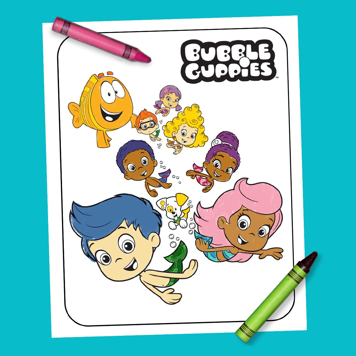 Bubble Guppies Coloring Sheet