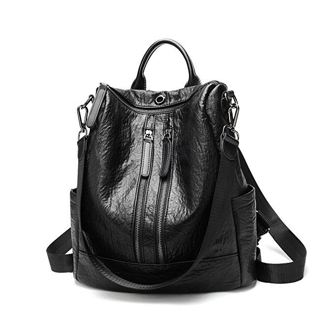 2a530301183a FIGROL Women Backpack Purse Casual Shoulder Bag Ladies PU Leather Satchel  School Bag Travel Backpack for Girls… Review