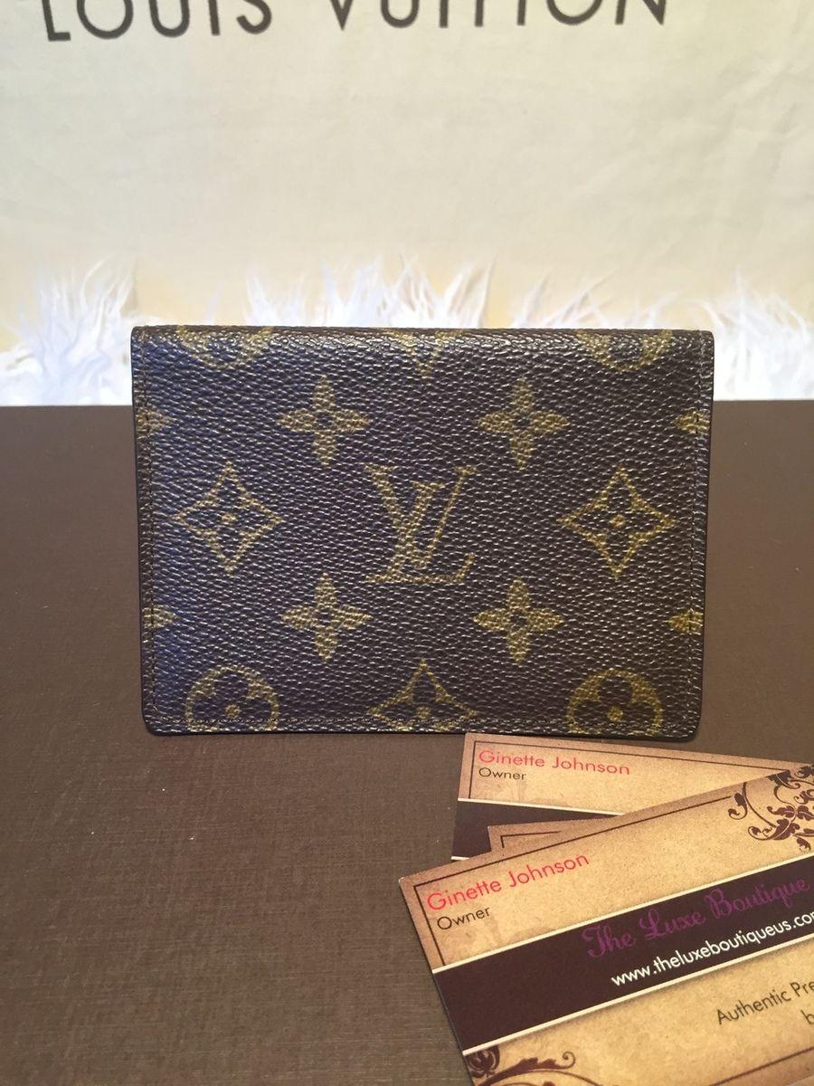 SOLD! Vintage Authentic Louis Vuitton Monogram Pass Case id
