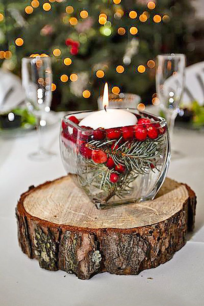 24 charming winter wedding decorations winter wedding for Winter wedding centerpieces