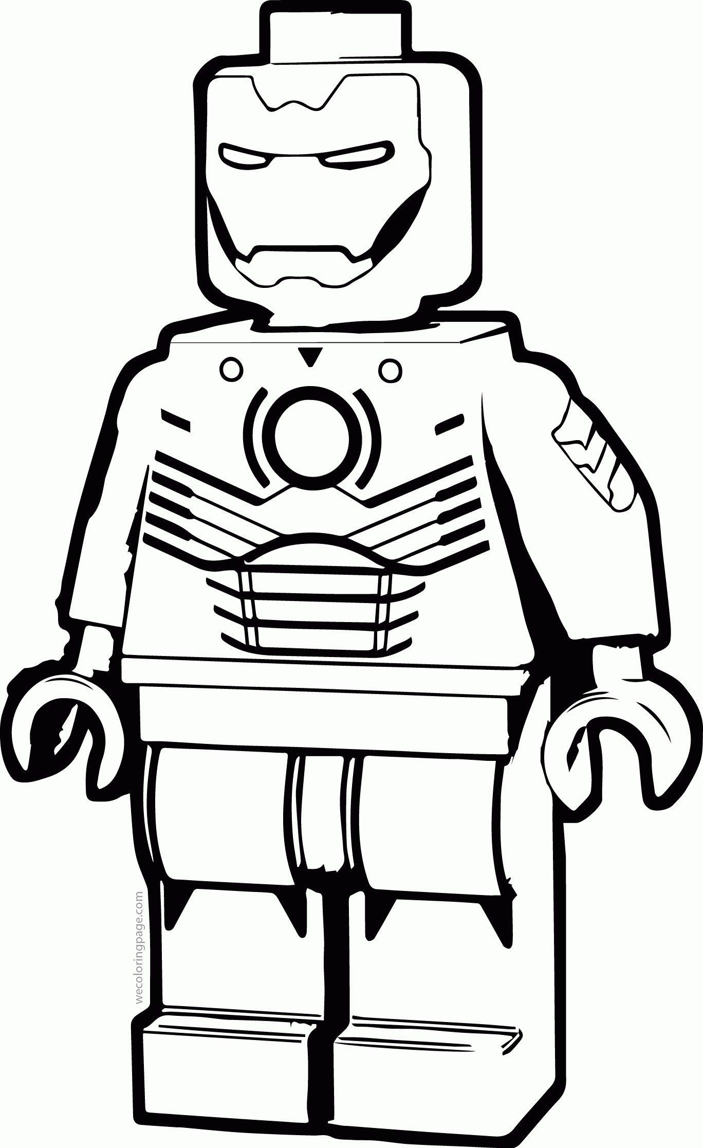 Lego Iron Man Drawing : drawing, Omalovanky