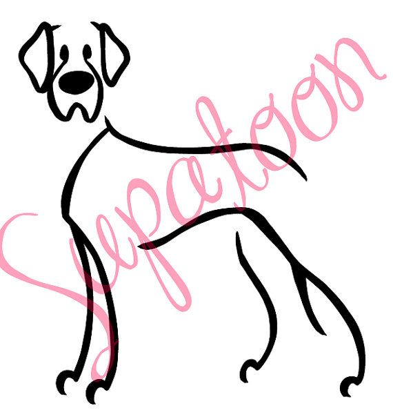 Great Dane Decal Natural Ear By Supatoon On Etsy Great Dane Dogs