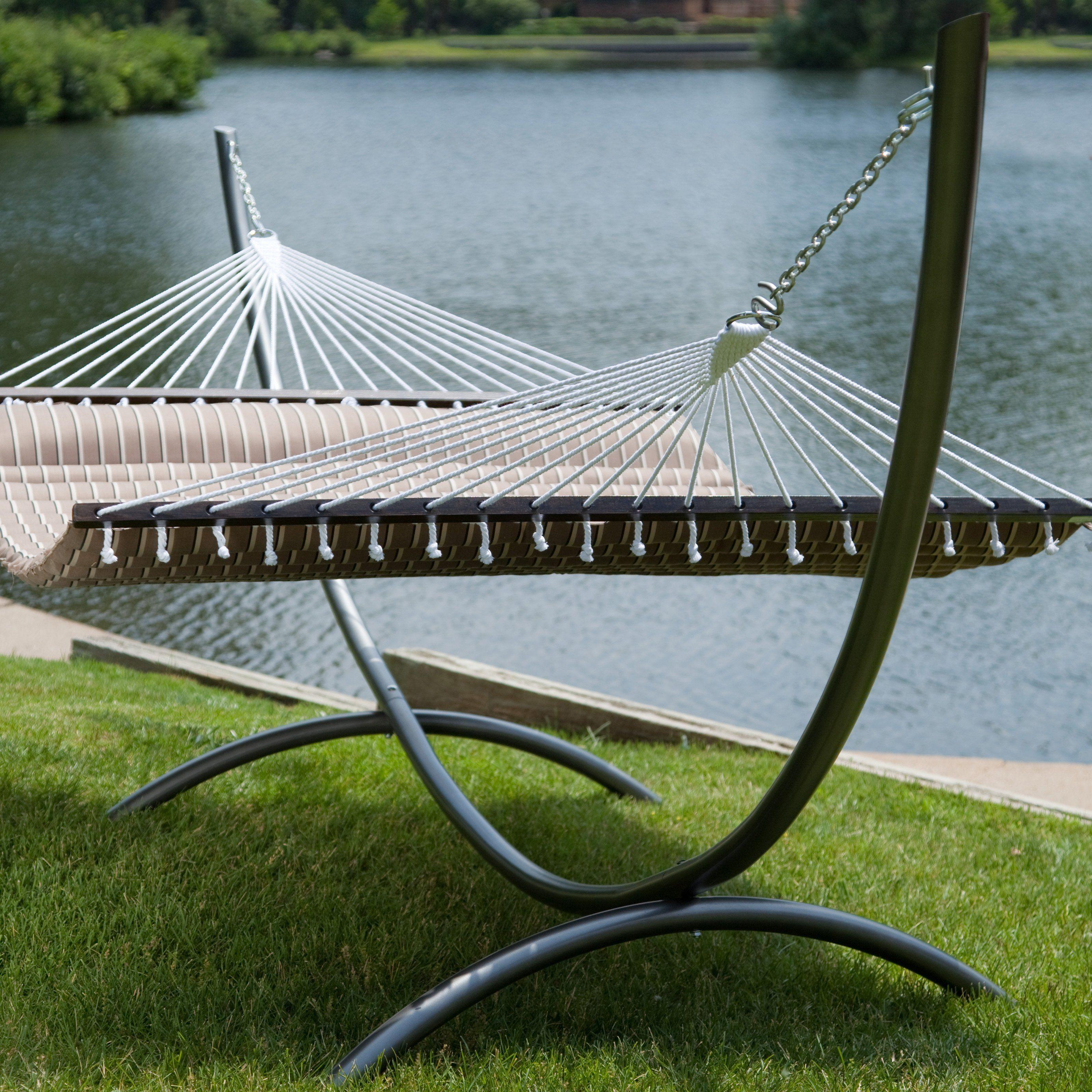 Island bay verona steel arc hammock stand products pinterest