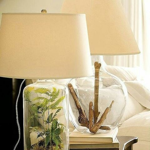 Fillable Bottle Lampshades For Home Decor Lovely Idea To