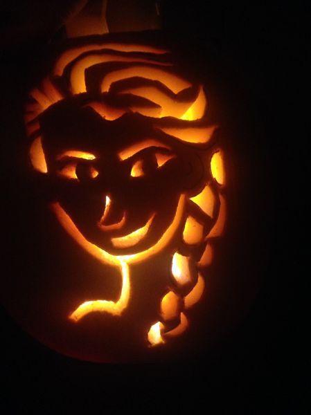 Elsa- Frozen Pumpkin Carving Holiday stuff Pinterest Pumpkin - frozen halloween decorations