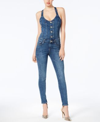 b5853352fa12 Guess Denim Jumpsuit - Blue XL in 2019