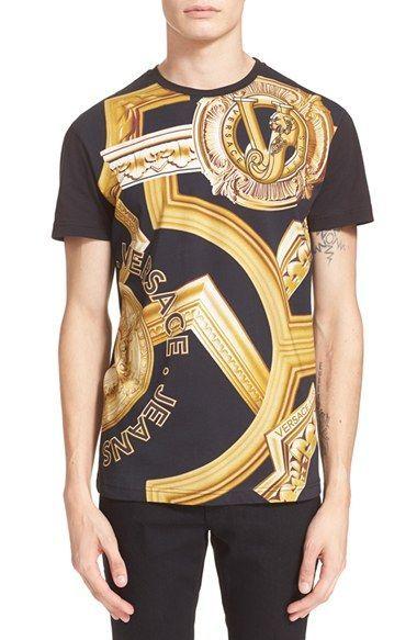 887d61e4 Versace Jeans Baroque Print Crewneck T-Shirt | 02. T shirts, tops ...